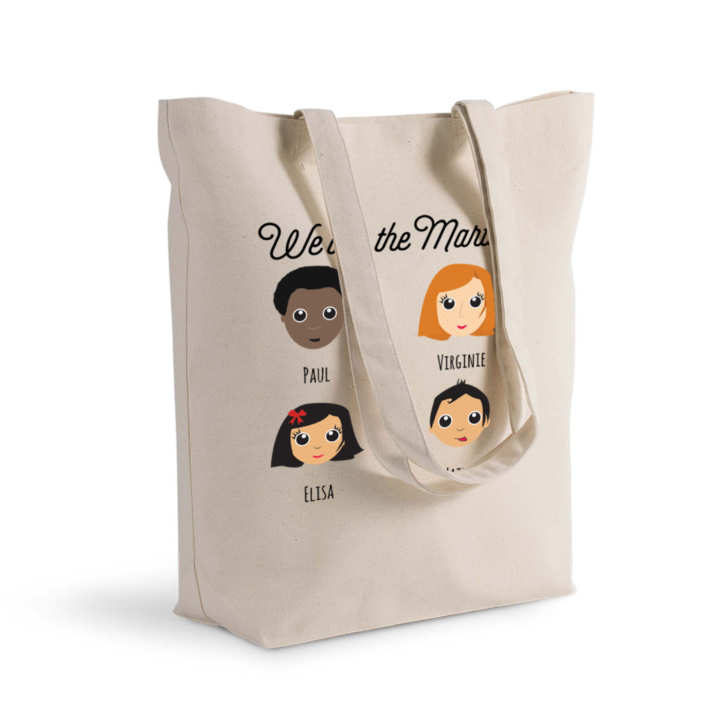 Joli tote bag de la gamme We Are Family